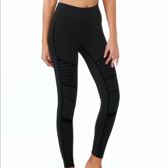 c68ff8a6a7 ALO Yoga Pants | Nwt Highwaist Moto Flocked Leggings | Poshmark